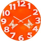 YourChoice Analog Wall Clock (Orange, Wi...