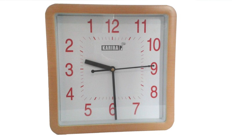 Karimobz Analog Wall Clock Revbrown