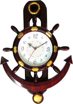 Abhisha Analog 14 cm Dia Wall Clock