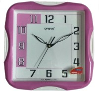 OREVA AJANTA Analog Wall Clock(Pink, With Glass)