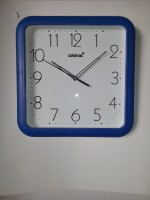 OREVA AJANTA Analog Wall Clock(Blue, With Glass)