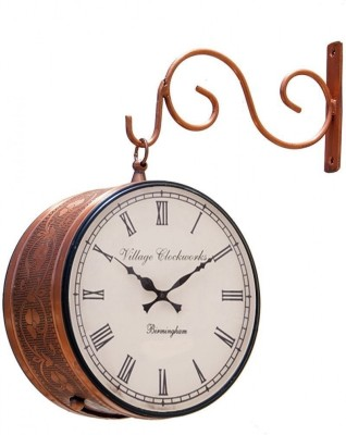 Village clockworks Analog 20.32 cm Dia Wall Clock