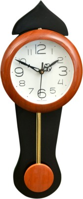 Wallace Avio717-PP Orange Pendulum Analog 43 cm Dia Wall Clock