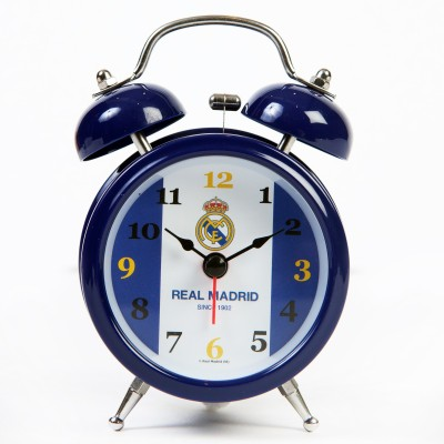 Real Madrid C.F. Analog Wall Clock(Multicolor, With Glass)