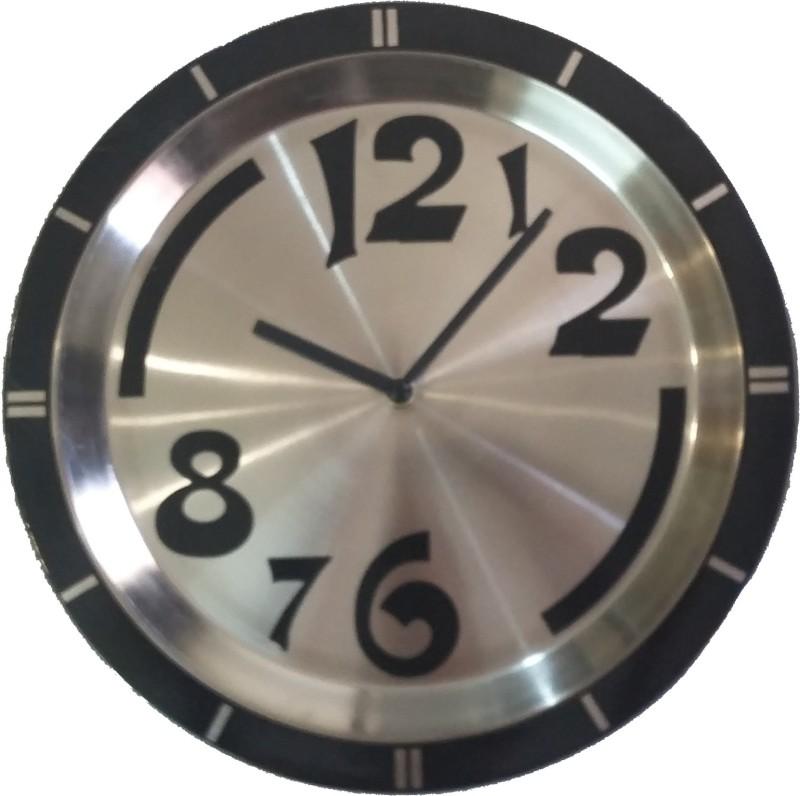 ONATTO Analog 29 cm Dia Wall Clock STAINLESS STEEL