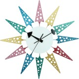 Home Analog Wall Clock (Multicolor, With...