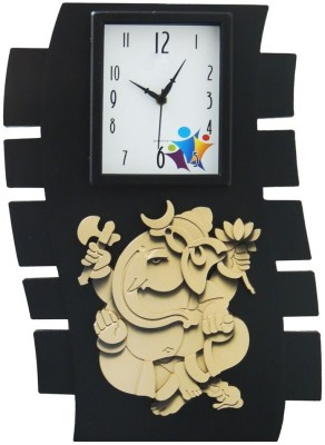 Cedar Ganesha Celebrations Analog Wall Clock