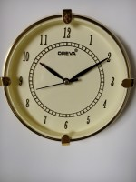 OREVA AJANTA Analog Wall Clock(IVORY, With Glass)