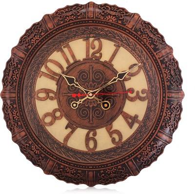 Fieesta 7157 Copper Color Designer Analog 43 cm Dia Wall Clock