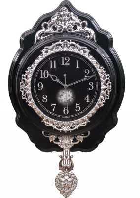 Wallace Victoria919-Black Designer Pendulum Analog 44 cm Dia Wall Clock
