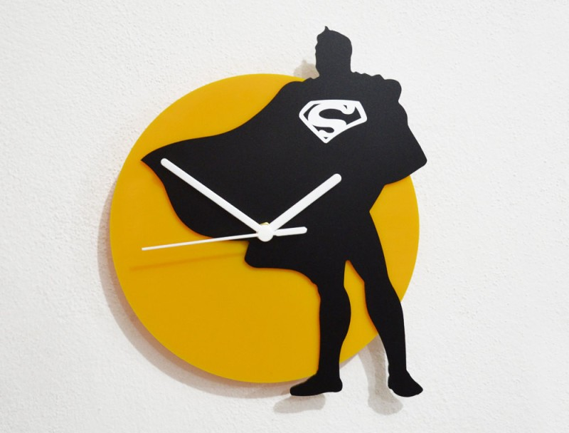 Blacksmith Analog Wall Clock(Black, Yellow, Without Glass)