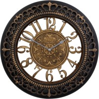 JaipurCrafts Analog Wall Clock(Black, With Glass)
