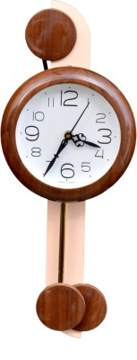 Wallace 707-Coffee Designer Pendulum Analog 48 cm Dia Wall Clock