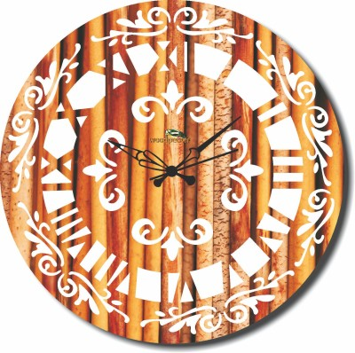 Basement Bazaar Analog Wall Clock(Multicolor, Without Glass)