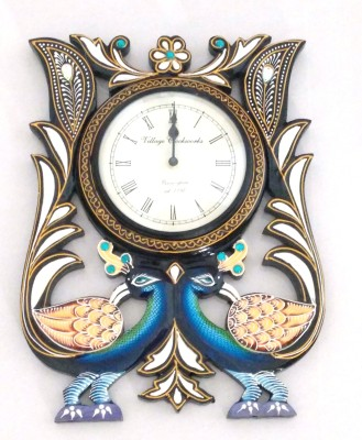 Village Clockworks Analog 15.24 cm Dia Wall Clock