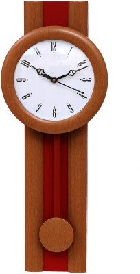 Wallace Theo P302 Red Pendulum Analog 50 cm Dia Wall Clock
