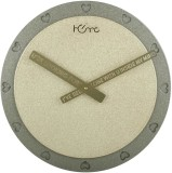 Home Analog Wall Clock (Brown, Without G...