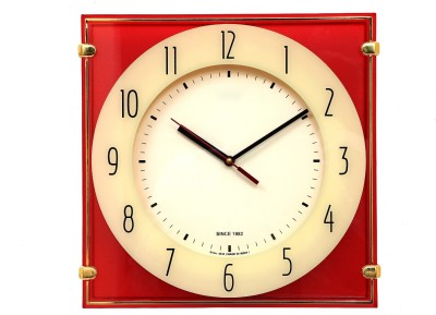 Wallace Victor4030 Printed Glass Red Color Trendy Analog Wall Clock