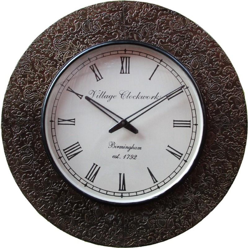 Rajwadi Kala Analog 30 cm Dia Wall Clock Rajwadi kala Clock 031