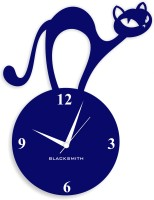 Blacksmith Analog Wall Clock(Dark Blue, Without Glass)