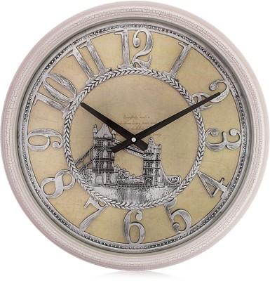 Fieesta Steven2001 White Crack Designer Analog 46 cm Dia Wall Clock