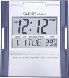 Elwin Digital Wall Clock (Silver, Blue, ...
