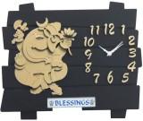 PMR Retail Analog Wall Clock (Brown, Bla...