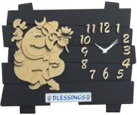 PMR Retail Analog Wall Clock(Brown, Black, Without Glass)