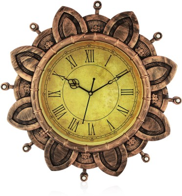 Fiesta Burton Designer Mustard Brown Color Analog 41 cm Dia Wall Clock
