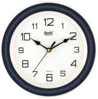Ajanta Analog Wall Clock(Blue, With Glass)