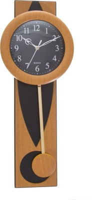 Smile2u Retailers Analog Wall Clock(Black, With Glass)