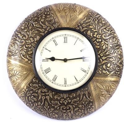 Brown Village Analog 30 cm Dia Wall Clock