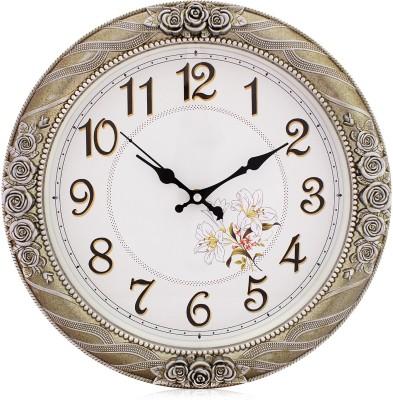 Fieesta Steven1402 Grey Vintage Design Clock Analog 35.5 cm Dia Wall Clock