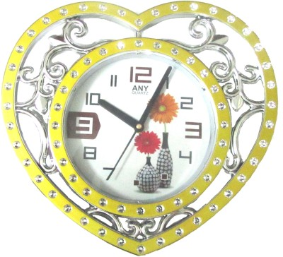 Abhisha Analog 15 cm Dia Wall Clock