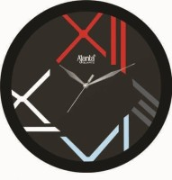 Ajanta Analog Wall Clock(Black, With Glass)