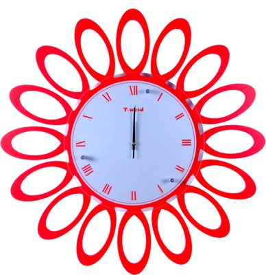Lime T-weid Analog Wall Clock