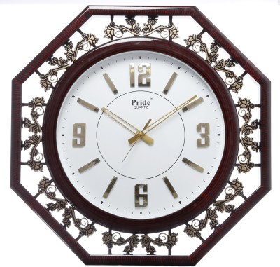 Smile2u Retailers Analog Wall Clock(Brown, White, With Glass)