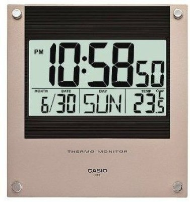 Casio Digital Wall Clock(Black, With Glass)