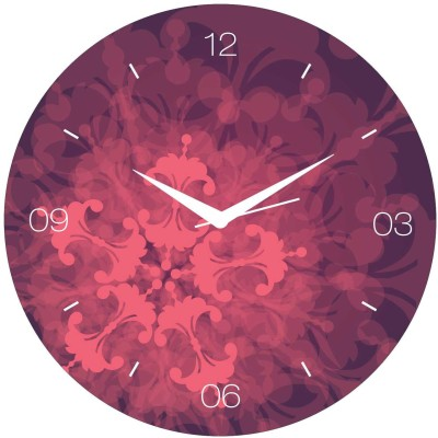 Creative Width Decor Analog Wall Clock(Multicolor, Without Glass)