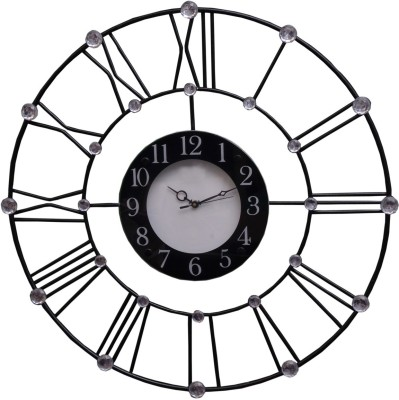 Wallace 501-Roman Numeral Designer Iron Cast Analog 60 cm Dia Wall Clock