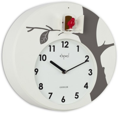 Opal Analog 32 cm Dia Wall Clock(White, Without Glass)