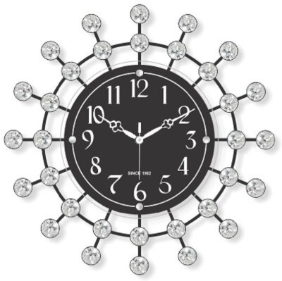 Wallace 308 Designer Metal-Glass Series Analog 37 cm Dia Wall Clock