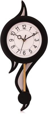 Fieesta President6007 Black&Silver Designer Pedulum Analog 56 cm Dia Wall Clock