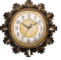 Smera Analog Wall Clock(Black, With Glass)