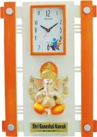 Feelings Analog Wall Clock(Orange, With Glass)