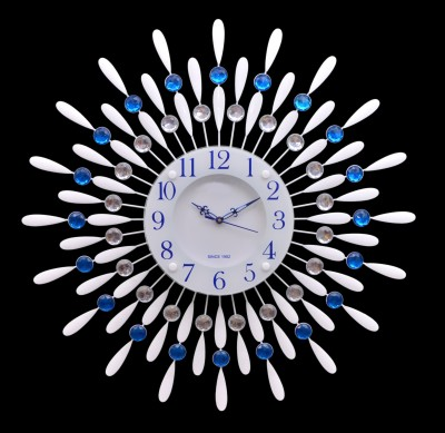 Wallace 118Metal-Glass Blue Designer Analog 58 cm Dia Wall Clock