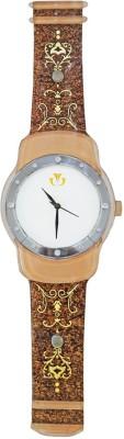 Fancy Glass Analog 20.3 cm Dia Wall Clock