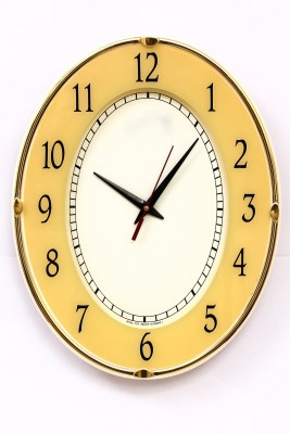 Wallace Victor707 Printed Glass Golden Color Trendy Analog Wall Clock