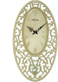 Home Analog Wall Clock (Golden, Without ...