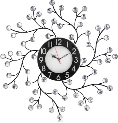 Arete Victor101 Molded Wrought Iron Crystal Studded Analog 56 cm Dia Wall Clock